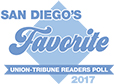 San Diego Union Tribune Reader's Poll 2017 FAVORITE