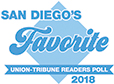 San Diego Union Tribune Reader's Poll 2018 FAVORITE