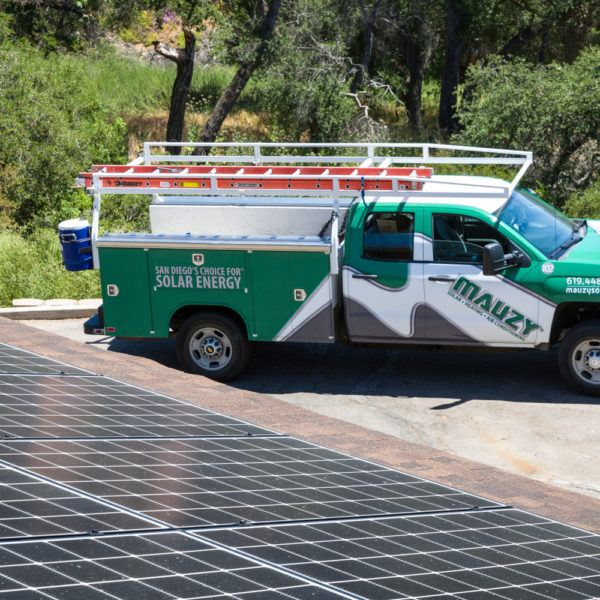 Mauzy Solar company vehicle