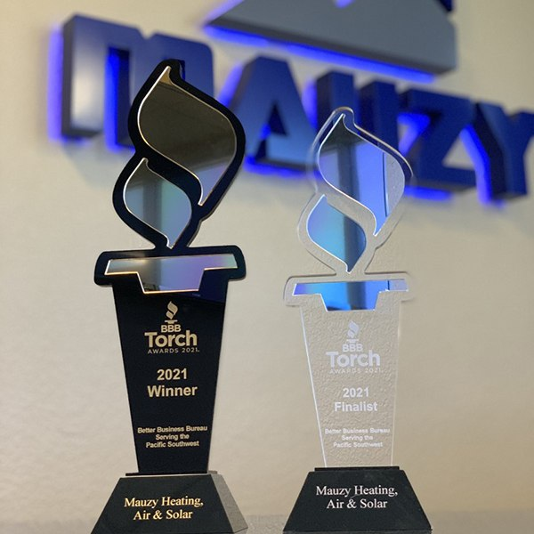 2021 BBB Torch Awards trophies